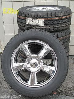 SUBURBAN TAHOE FACTORY STYLE CHROME WHEELS GOODYEAR TIRES 5308 NEW SET