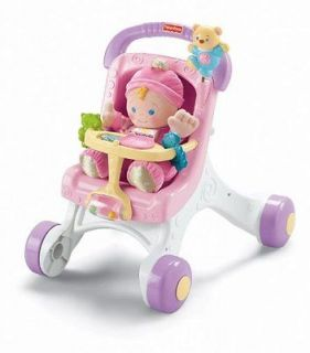 Fisher Price Brilliant Basics Stroll Along Walker Baby Developmental