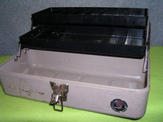 VINTAGE FISHING TACKLE BOX WATERLOO TOOL BOX FOR TOOLS
