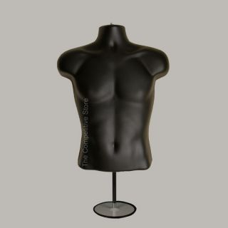 Male Countertop Mannequin Form (Waist Long) W/ Base For S M Sizes