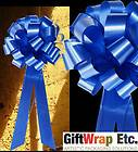 10 ROYAL BLUE PULL BOWS DECORATIONS WEDDING PEW GIFT CHAIR TABLE