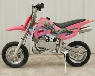 BRAND NEW 49CC 50CC 2 STROKE GAS MOTOR MINI DIRT PIT BIKE PINK DB49A