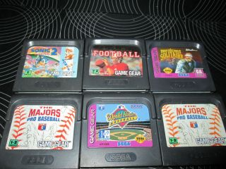 SEGA GAME GEAR GAMES.Lot of 6 GAMES