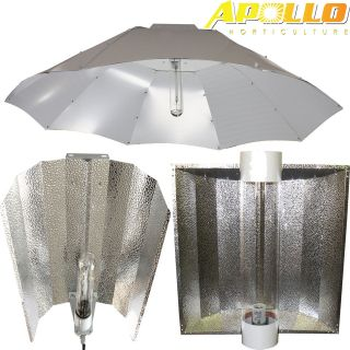 600w 1000w watt Grow Light Hood Reflector Compatible w HPS & MH Bulbs