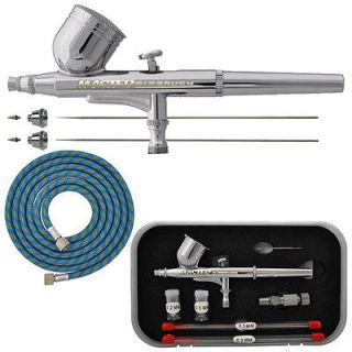 PRO Dual Action Gravity Feed AIRBRUSH KIT SET w 3 TIPS Hobby Cake Nail