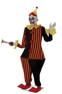 THE CLOWN 6FT LIFESIZE ANIMATRONIC Animated Halloween Prop with Sound
