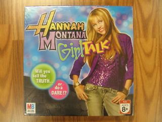 Hannah Montana Girl Talk, board game, Brand New Sealed