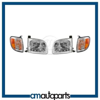 00 04 Toyota Tundra Truck Headlights Headlamps & Corner Parking Lights