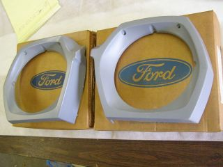 NOS 1971 1972 1973 Ford Pinto Headlight Doors Bezels