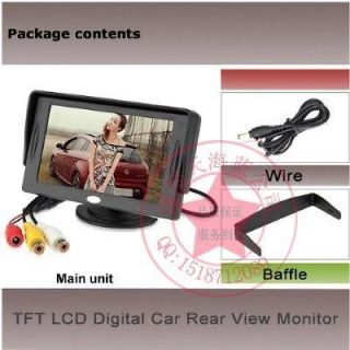 High Resolution Car Color TFT LCD Camera Monitor 2 Video Input