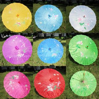 Kids Multicolor Party Parasol Chinese/ Japanese Oriental Umbrella 32