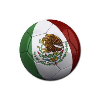 Mexico Mexican Flag Soccer Ball Coaster Coasters 4 pack