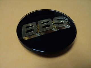 BBS BLACK WHEEL CENTER CAP 3D WITH GOLD LOGO 0923221