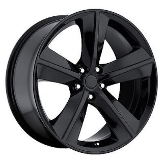 Challenger SRT8 Satin Flat Black Charger Magnum 300 Wheels Rims Set