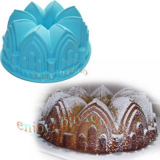 Large CROWN Swirl Bundt Cake Pan Bread Chocolate Bakeware Silicone