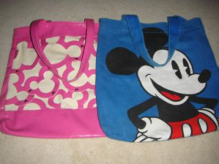 Disney Couture Blue Mickey Mouse Bag by loop & Disney MM Pink Bag