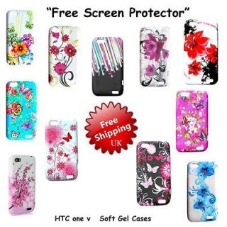 For HTC ONE V Colorful Flower Butterfly Mobile Phone Case Cover OneV