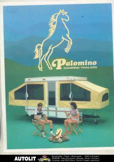 Palomino Pop Up Camping Travel Trailer & Pickup Truck Camper Brochure