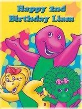 Barney #1 Edible CAKE Icing Image topper frosting birthday party