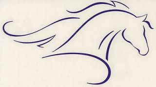 Lrg Purple Horse Pony Trailer Truck Vinyl Decal Equestrian Graphic