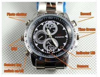 Free Ship 4GB Mini Hidden Spy Watch Camera DVR Video Recorder