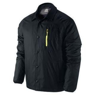 NIKE THERMORE INSULATED MENS BLACK COACHES CASUAL JACKET / COAT 394673