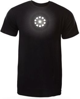 RARE Iron Man Arc Reactor LIGHT UP TShirt Replica Tony Stark Avengers