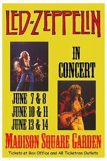 Robert Plant & Jimmy Page; Led Zeppelin at Madison Square Garden