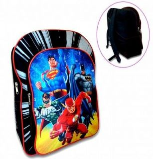 JUSTICE LEAGUE BATMAN, SUPERMAN, FLASH, GREEN LANTERN SCHOOL BAG