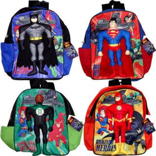 JUSTICE LEAGUE BATMAN SUPERMAN THE GREEN LANTERN FLASH Boys Bags
