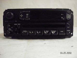 Dodge Jeep Chrysler 5 Disc CD Player Radio Factory P05091556AG AM FM
