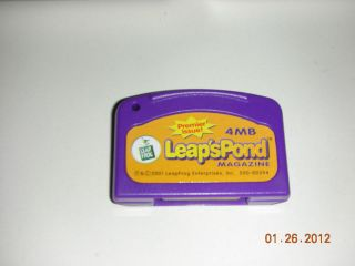 Leaps Pond Magazine, Premier Issue, Cartridge, Leap Frog, LeapPad