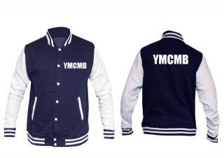 YMCMB Varsity College Jacket LIL WAYNE BIEBER HIP HOP New 2012 Free UK