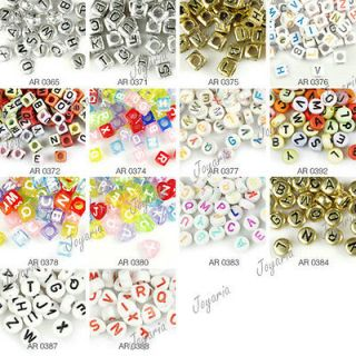 Acrylic Plastic Beads Letter Alphabet 14 style to choose FREE SHIP