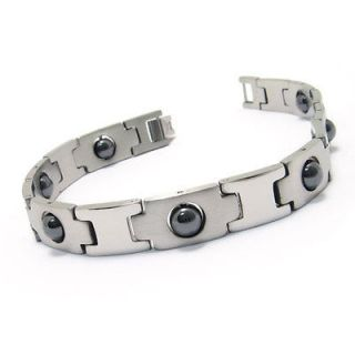 mens stainless steel magnetic bracelet in Mens Jewelry