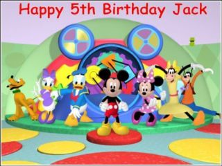 6x MICKEY mouse clubhouse cake/cupcake toppers 5.5 cm 3D sugar edible