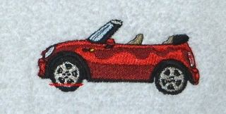 MINI COOPER CAR   VEHICLE   2 EMBROIDERED HAND TOWELS by Susan