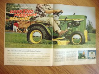 1966 John Deere Lawn Tractor Ad 1966 Ford Country Squire 1946 Ford