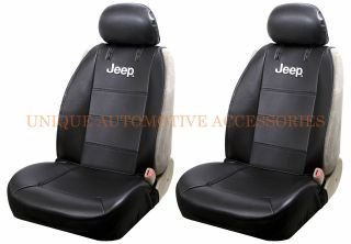 JEEP MOPAR ORIGINAL BLACK SYNTHETIC LEATHER SIDE LESS SEAT COVERS