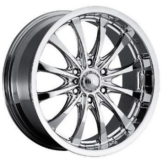 20X8.5 6 5.5 Boss Motorsports Series 307 Chrome Wheels Rims Chevy