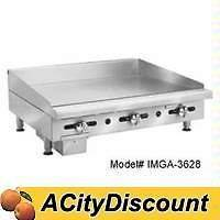 IMPERIAL RANGE IMGA 2428 24 COMMERCIAL GAS GRIDDLE MANUAL FLAT GRILL