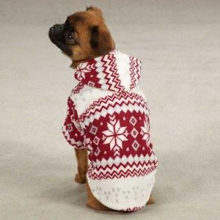 Dog SNOWDRIFT CUDDLER Fleece Jacket Winter Coat Puppy Pet Clothes XXS