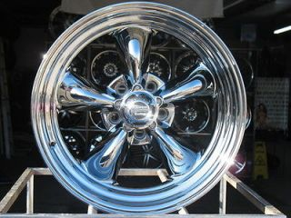 15X7 CHROME AMERICAN RACING VN815 WHEELS RIMS 5X5 5X127 HOT ROD CHROME