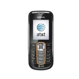 AT&T Nokia 2600 Cell Phone Camera Black GSM No Contract Used Fair