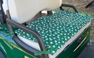 EZ GO TXT Golf Cart Custom Deluxe Seat Covers Front and Rear(Black/Whi