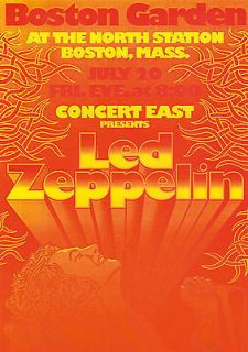 Led Zeppelin vintage repro concert poster Boston Garden USA
