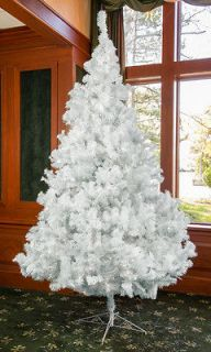 Valley King White 12 Ft Hinged Pine Prelit Artificial Christmas Tree
