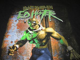 iron maiden ed hunter tour shirt Large 1999