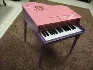 BARBIE CHILD SIZE BABY GRAND PIANO PINK & LAVENDER 20 TALL   VERY