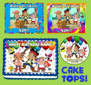 Neverland Pirates for Birthday CAKE topper Edible image SHEET icing